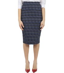 victoria beckham cobalt pencil skirt