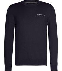 jersey de algodón elástico azul calvin klein