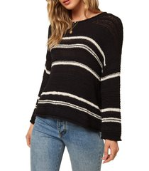 women's o'neill salty stripe sweater