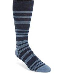 men's cole haan stripe socks, size one size - blue