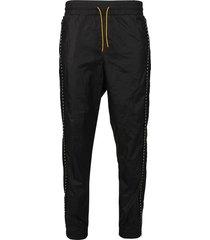 nylon logo track pants black