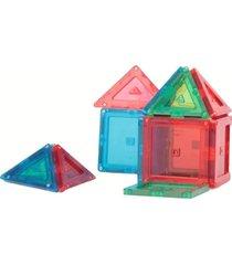 blocos magnéticos - magforma - maleta com 14 peças - acrílico - colorido - mf17ch14 - azul