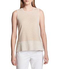 heathered sleeveless sweater
