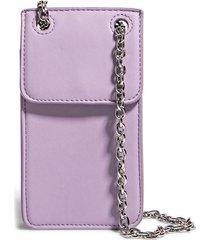house of want vegan leather phone crossbody bag - purple