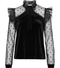 anais top blouse lange mouwen zwart ida sjöstedt