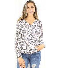 blusa luisa animal print jacinta tienda