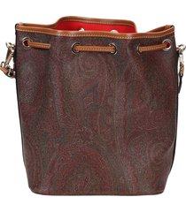 etro leather bucket bag