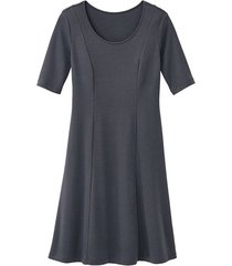 jersey jurk, antraciet 42