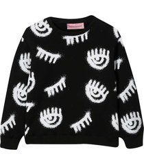 chiara ferragni black sweatshirt with