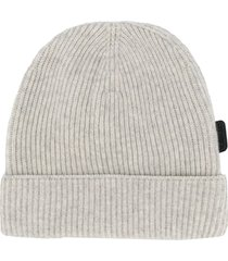 tom ford fine knit beanie hat - grey