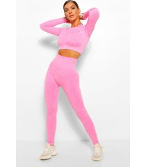 sportieve naadloze camo contour leggings, roze