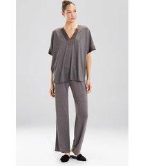 congo dolman pajamas, women's, grey, size l, n natori