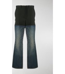 balenciaga panelled slim-fit trousers