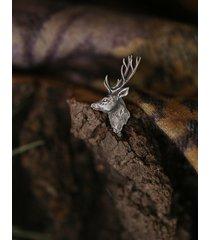 mini broszka pin z jeleniem ze srebra