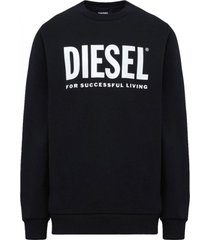 poleron s gir division logo sweat shirt negro diesel