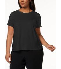 eileen fisher plus size system stretch jersey t-shirt