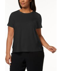 eileen fisher system plus size stretch jersey t-shirt
