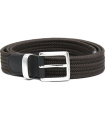 dell'oglio interwoven-strap belt - green