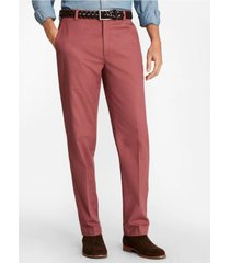 pantalón clark fit supima stretch rojo brooks brothers