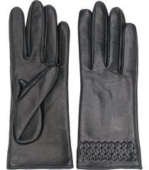manokhi short braided gloves - black