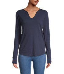 zadig & voltaire women's graphic cotton top - navy - size s