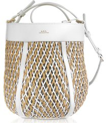 a.p.c. designer handbags, garance woven leather shoulder bag