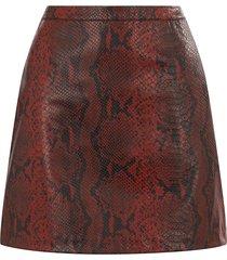 faux snake mini skirt