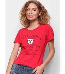 camiseta coca cola coke jeans feminina - feminino