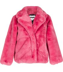 apparis short faux-fur coat - pink