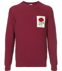 kent & curwen embroidered rose sweatshirt