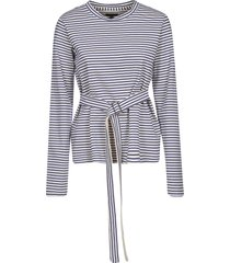 jejia belted striped top