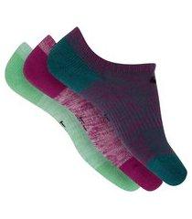 kit de meias cano invisível nike everyday cush com 3 pares - 29 a 33 - infantil