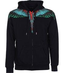 marcelo burlon wing zipped hoodie