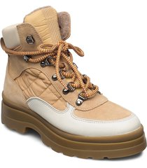 windpeak mid lace boot shoes boots ankle boots ankle boot - flat beige gant