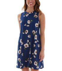 bcx juniors' floral-print sleeveless a-line dress