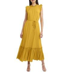 bcbgmaxazria ruffled drawstring maxi dress