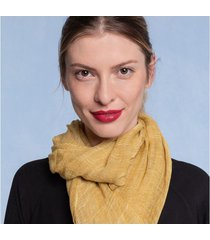lenço elaine cor: amarelo - tamanho: único