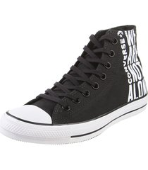 zapatilla  negra  converse  chuck taylor all star not alon