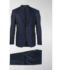 tonello pleated detail slim fit suit