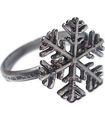 śnieżynka - pierścionek