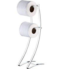suporte para papel higiãªnico de chã£o duplo cromado future - multicolorido - dafiti