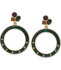 laundry by shelli segal gold-tone resin doorknocker drop earrings