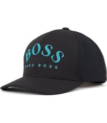 boss men's cap-mesh black hat
