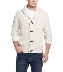 men's jersey lined cardigan with toggles