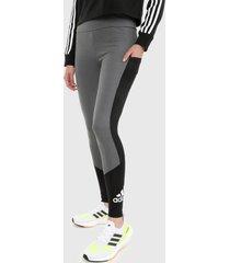leggings gris-negro adidas performance to move big