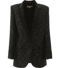 jacquard blazer with sequins