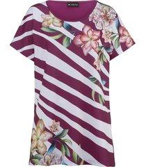 shirt m. collection bordeaux::wit