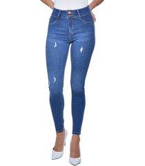 jeans tiro alto high waist skinny 3030 azul amalia jeans