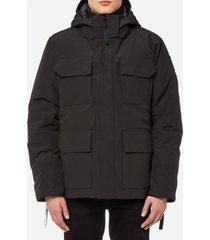 canada goose men's black label maitland parka jacket - black - xl
