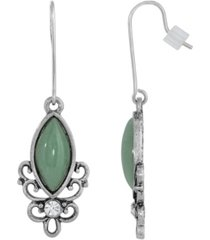 2028 sterling silver wire genuine stone indian aventurine earrings